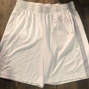 White Reebok shorts